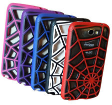 Note II Samsung Galaxy Hybrid Spider Web Impact case cover Samsung Galaxy Note2