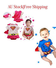 NEW Baby costume Toddler boy girl Superman Supergirl Outfit Romper