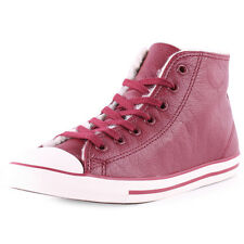 Converse Chuck Taylor All Star Dainty Womens Leather Oxblood Trainers New
