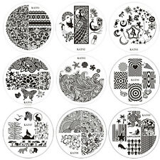 New Nail Art Image Stamp Stamping Plates Manicure Template KAT01-10 Series Set
