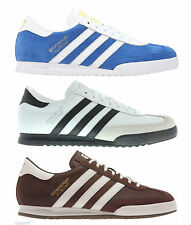 adidas Beckenbauer Mens Originals Trainers Brown Cream White Black Suede Sneaker