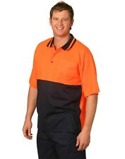 AIW SW12 High Visibility Mens Polo Work Shirt; Short Sleeved; S-7XL