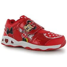 DISNEY MINNIE MOUSE: GORGEOUS LIGHT UP TRAINERS,C7,C8,NEW WITH TAGS