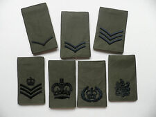 Royal Marines / Army, rank epaulette slides [pair] NCO ranks, new & unissued.