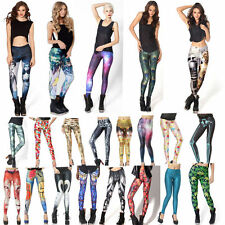 Women Sexy Printed Leggings Christmas Slim Pants Cosmos Corpse Frozen Sports Hot