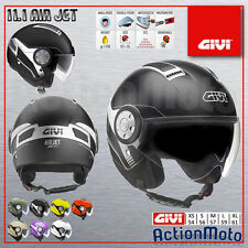 Casco Helmet Jet Givi 11.1 Air Jet Moto Scooter Nero Opaco Black Matt