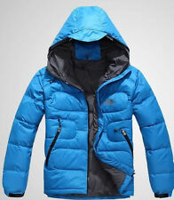 90% DUCK DOWN Men Blue jacket coat Ski Outdoor winter clothing HOODIE 5 colors