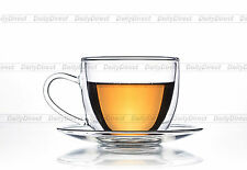 Lots Tea Cup Set -Heat Resistant Double Wall Glass Tea Coffee Cup + Glass Saucer