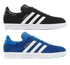 ADIDAS ORIGINALS MENS SUEDE GAZELLE 2 TRAINERS BLACK BLUE SHOES NEW CLASSIC