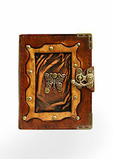 Butterfly Mini Pendant Brown Leather Journal / Diary / Lock / Notebook / Notepad
