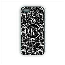 PERSONALIZED DAMASK MONOGRAM PHONE CASE, ANY COLOR, FOR IPHONE 4 5 6 PRETTY