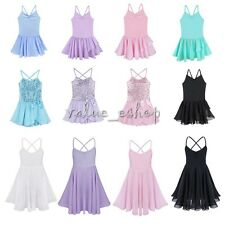 Girls Gymnastics Ballet Dress Toddler Kids Leotard Tutu Skirt Dance wear Clothes
