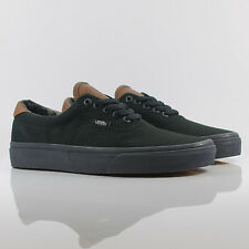 Vans Era 59 (C&L) Black/Black/Brown/Camo Canvas/Leather Trainers VUC6EOY