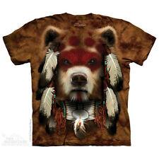 Warrior Bear T-Shirt by The Mountain. Big Face Manimals Sizes S-5XL NEW