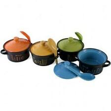 FUNKY SOUP/STEW BOWL WITH LID & SPOON GREAT GIFT