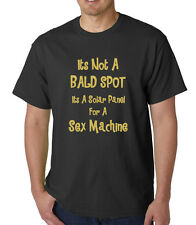 Bald Spot, Novelty/ Funny/Joke/Slogan,Adults Mens Cotton T-Shirt, Birthday Gift