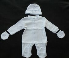 NEW PREMATURE 3-5 5-8 LBS PREENIE CLOTHING SCBU NICU SLEEPSUIT, MITTENS & HAT
