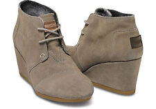 TAUPE SUEDE WOMEN'S DESERT WEDGES TOMS SHOES