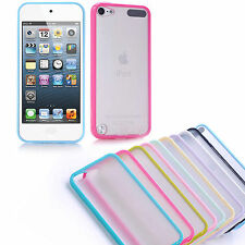 Plain Hard Silicone Matte Back Case Cover for Apple iPod Touch 5 iTouch Skin NEW