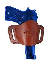 New Barsony Burgundy Leather Gun Quick Slide Holster Smith&Wesson Full Size 9mm