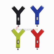 2-Ports Dual USB  2.1A Y-Charge Car Charger Adapter for iPhone 5s 6 Samsung HTE#