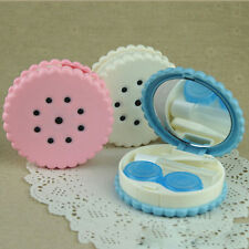 Travel Cute Cartoon Cookies Shape Contact Lens Case Box Container Holder