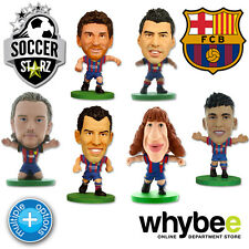 FC BARCELONA SOCCERSTARZ FOOTBALL MODEL FIGURES -OFFICIAL BARÇA SOCCER STARZ NEW