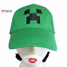 MINECRAFT ASSORTED BALL CAPS - SOLID AND VENTED - FAST SHIPPING! GREAT PRICE!