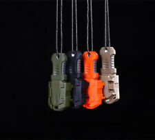 EDC Mini Stainless Steel Knife MOLLE Webbing buckle Self Defence survival tool