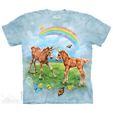 Dueling Unicorn Twins Kids T-Shirt by The Mountain. Horses Fantasy S-XL NEW