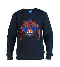 NEW ADIDAS BIG EAST CREW SWEATSHIRT Knicks Patrick Ewing F96166 Dark Navy $60