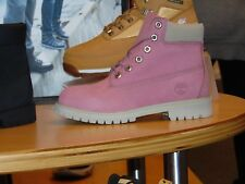 TIMBERLAND KIDS 6 IN PREMIUM October Pink Villa YOUTH 4Y-7Y 100% Authentic