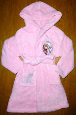 ♥ BNWT GIRLS DISNEY FROZEN GEORGE ELSA ANNA DRESSING GOWN 3-4-5-6 7-8 9-10 11-12