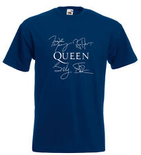 Queen Autograph T Shirt Freddie Mercury Roger Taylor John Deacon Brian May