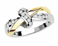 Gorgeous White Sapphire  Woman Lady's 10KT White Yellow Gold Filled Ring - A132