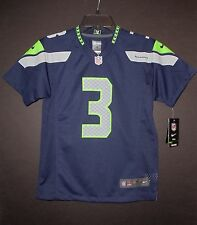 Russell Wilson Seattle Seahawks Youth Kids College Navy Nike Game Jersey NWT