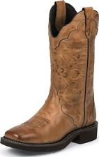 Women's Justin Western Boots Gypsy Square Toe Caramel Cow Leather Medium L2907
