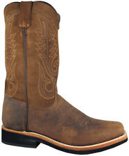 Mens Smoky Mountain Booneville 4028 Western Boot Brown Square Toe Wide