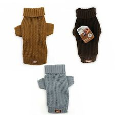 All For Paws AFP Lambswool Fishermans Weave Dog Puppy Sweater Jumper
