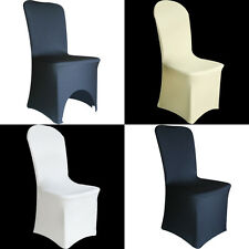 SPANDEX CHAIR COVERS Wedding Party Lycra Cover - White Ivory White UNIVERSAL FIT