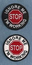 "IGNORE ME - I'M WORKING  ---- ----- 3"" service dog vest patch"