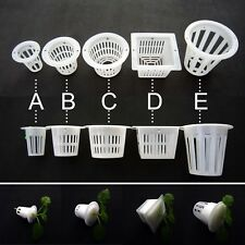 10X Clear White Mesh Pot Net Cup Basket Hydroponic Aeroponic Plant Grow Clone