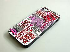 Mean Girls Collage Quotes Case Cover for iPhone 4 4S 5 5S 5C