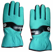 Teal Nazran Winter Sport Gloves 3M Thinsulate Thermal Insulation Leather palm