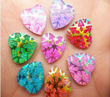 DIY 40PCS 12mm AB Resin Heart Flatback Scrapbooking Phone/Wedding/ Pick Color