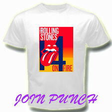 ROLLING STONES 14 ON FIRE TONGUE 2 Music T-Shirt (Longslave & Hoodie Available)