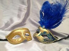 Masquerade mask pair for couple Xmas New Year Eve fancy Dress up Party Mask