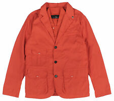 RLX Ralph Lauren Men's Water-Resistant Wading Coat with Removable Vest Orange N