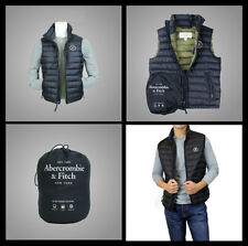 New Abercrombie A&F by Hollister Men Jay Range Packable Puffer Vest Jacket Size