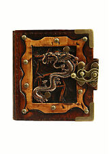 Chinese Dragon Pendant Handmade Refillable Leather Journal / Diary / Notebook